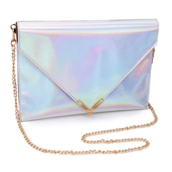 Holographic clutch envelope crossbody purse Brand new without tags. Unbranded tagged Kate spade for exposure. Will upload more pics soon. kate spade Bags Crossbody Bags