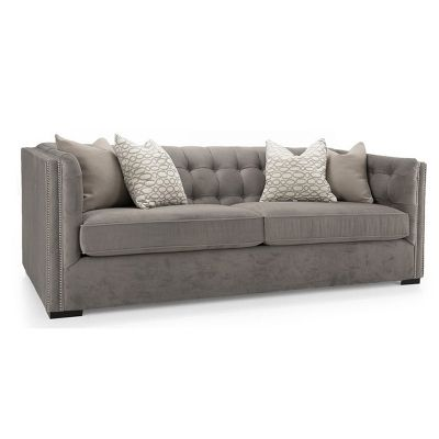 Steven And Chris Grand Salon Sofa - Pewter Sofas Stationary
