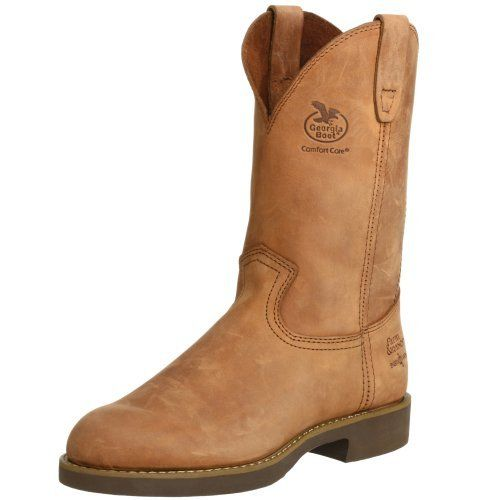 Georgia Boot Men's Heritage Wellington Work Boot Georgia Boot. $142.91. leather. Waterproof for long lasting durability. Rubber sole