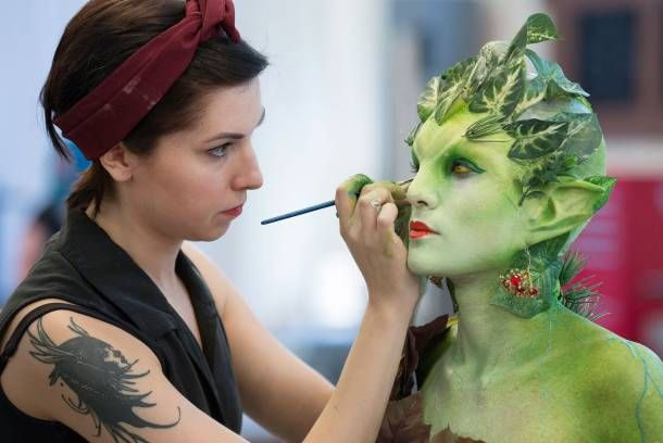 """FACE OFF -- """"Life and Death"""" Season 7 -- Pictured: Dina Cimarusti -- (Photo by: Isabella Vosmikova/Syfy) Great show, but there is mild cussing"""