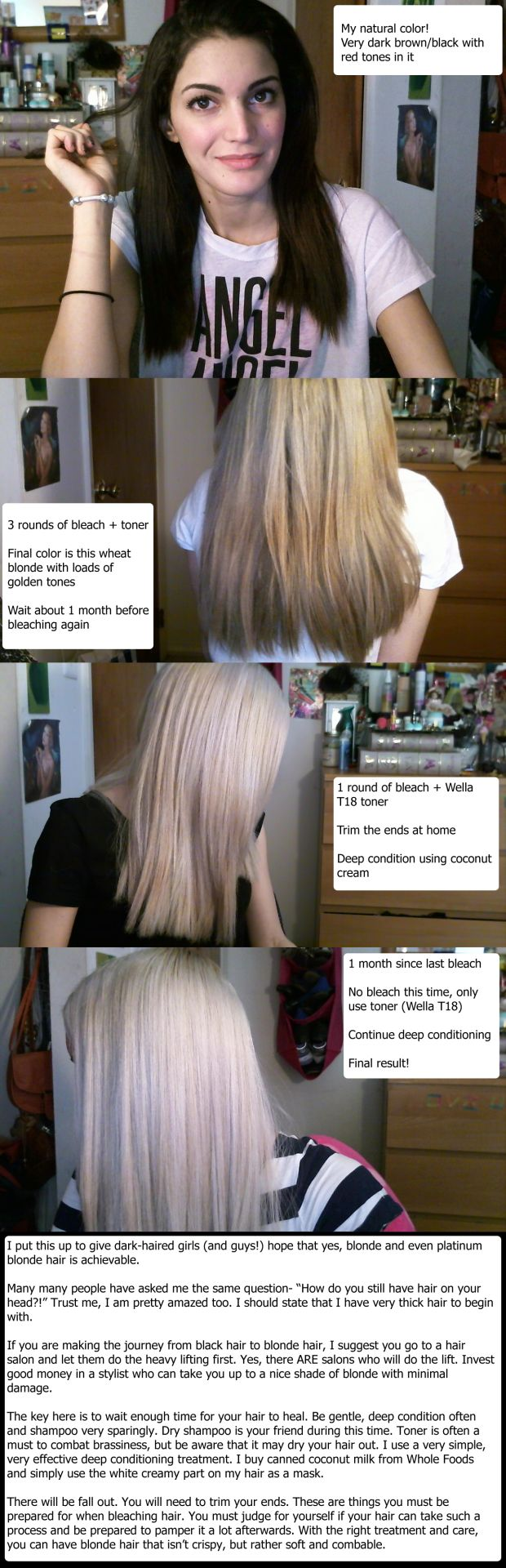 My black to blonde hair journey