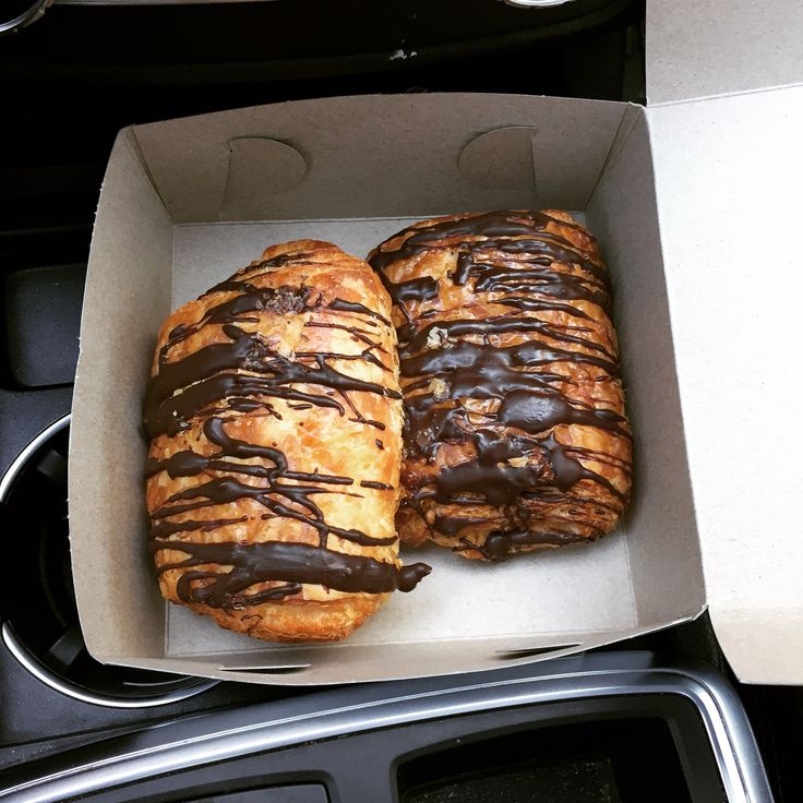 Picking up freshly baked pain au chocolat for my kids on a chilly day. Some of the best in Toronto.