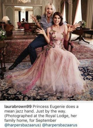 Princess Eugenie clowning around on her Harper's Bazaar photoshoot. August 2016