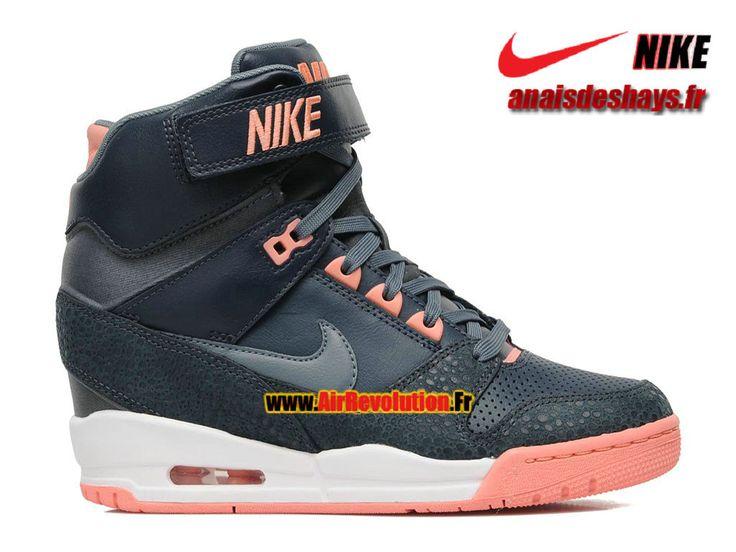 Boutique Officiel Nike Air Revolution Sky Hi GS Dark Bleu/Noir-Hyper Mango-Blanc 599410-400