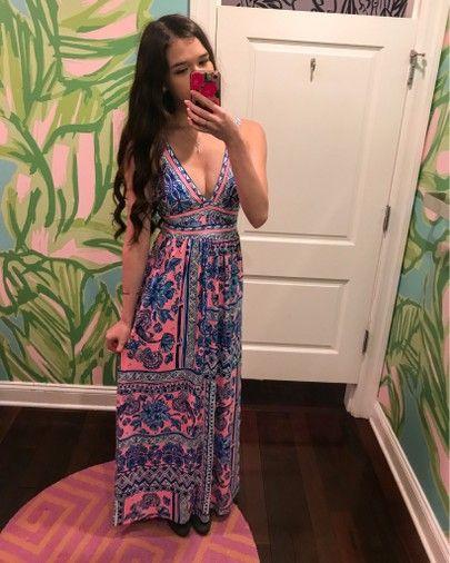 d15dca8c66 Lilly Pulitzer Taryn Maxi Dress in Ginger Jar try on maxi beach resort  dress Palm Beach Fashion preppy girl style ootd eva_phan | LIKEtoKNOW.it  PINTEREST: @ ...