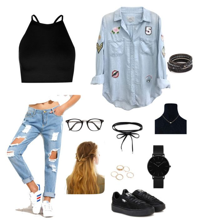 """outfit for summer night♡"" by briana-maria-simon on Polyvore featuring Boohoo, Puma, Rails, WithChic, Thomas Sabo, CLUSE and Chan Luu"