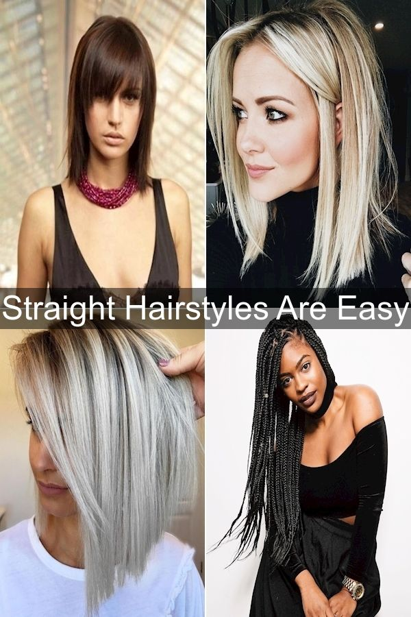 Easy Hairstyles Ways To Style Long Straight Hair Hairstyles For Hair Down Straight In 2020 Hair Styles Straight Hairstyles Short Straight Hair