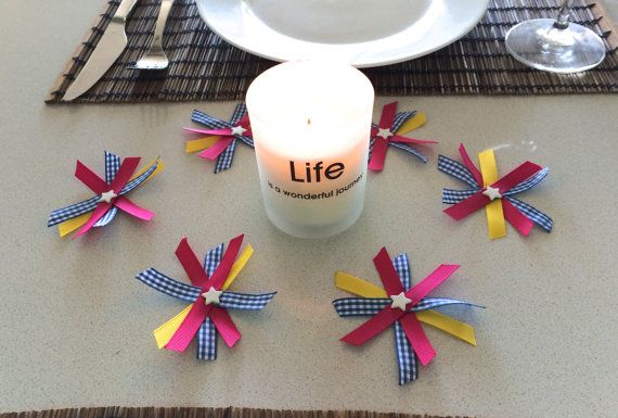 Star Table Scatter Ribbon Table Centrepiece By