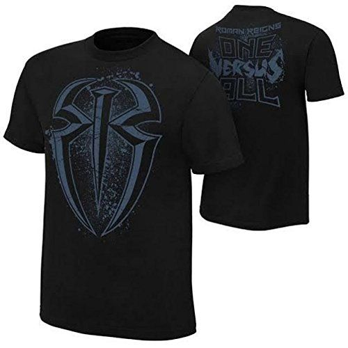 New Men's WWE Roman Reigns Logo Black T Shirt 100% Cotton Reviews