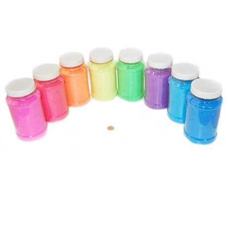 Carnival Savers - Neon Craft Sand Assortment  (8 sand bottles/box) $2.99 each, $21.00 (http://www.carnivalsavers.com/catalog/item/2385165/6825213.htm)