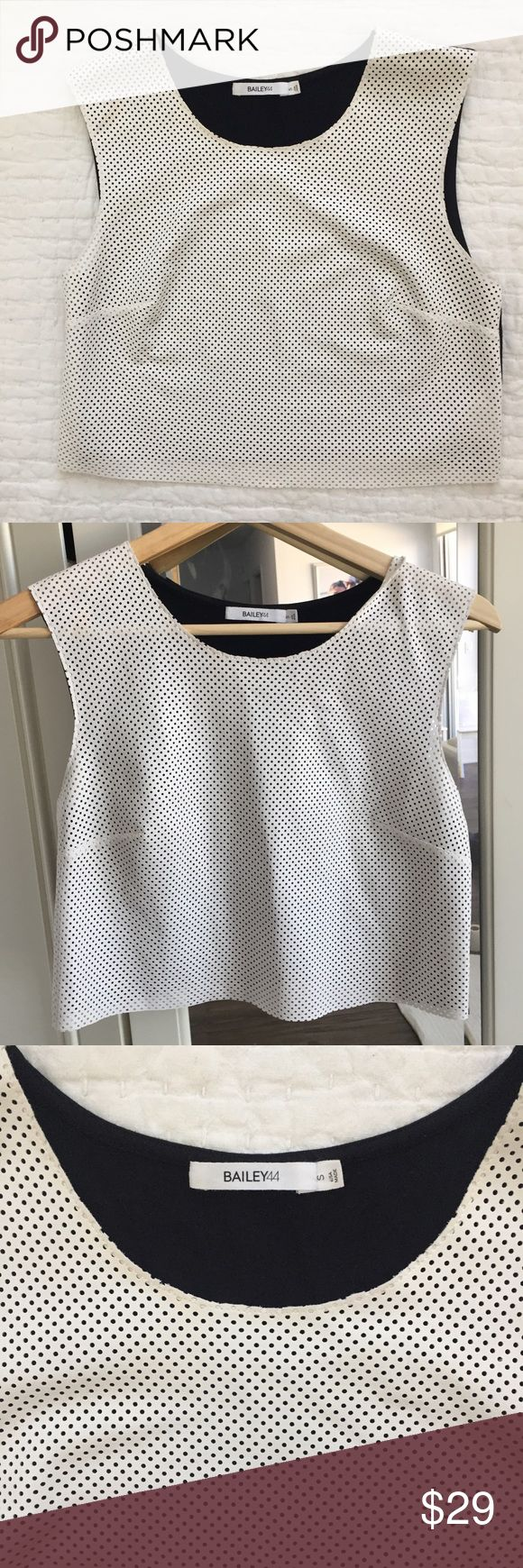 Bailey 44 Faux Leather Crop Top size small Bailey 44 Faux Leather Crop Top size small. Retail 89 dollars. Never worn excellent Condition. Bailey 44 Tops Crop Tops