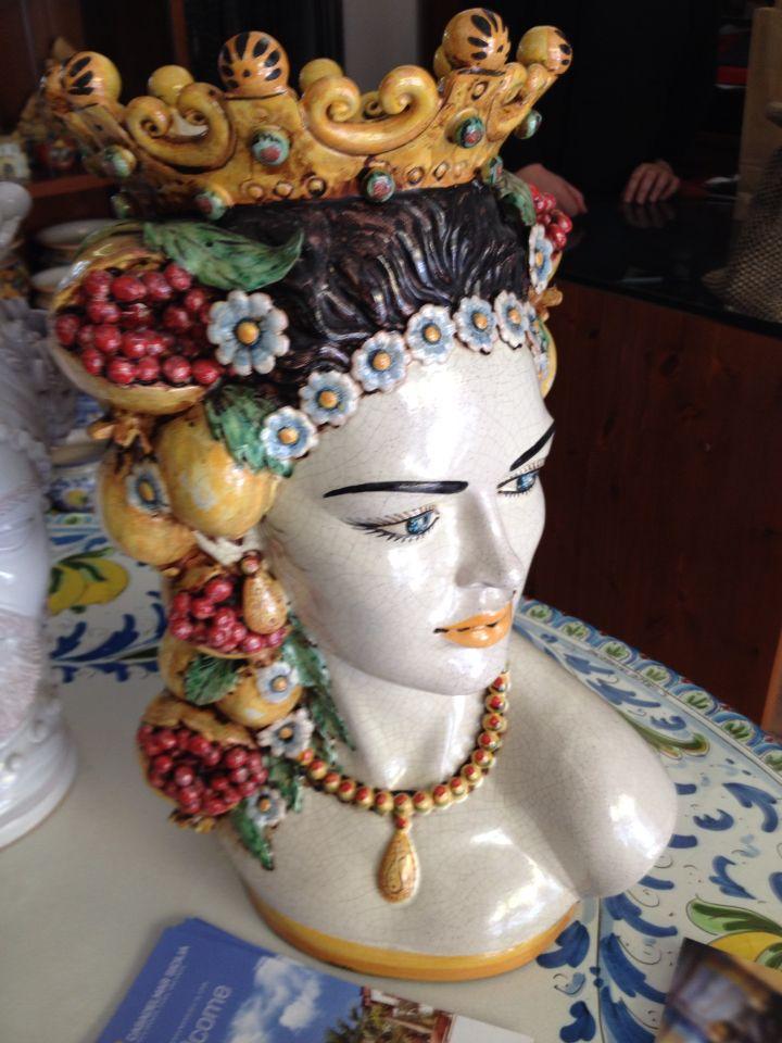 Ceramica vaso hand Made. Caltagirone, Sicilia #lsicilia #sicily #caltagirone