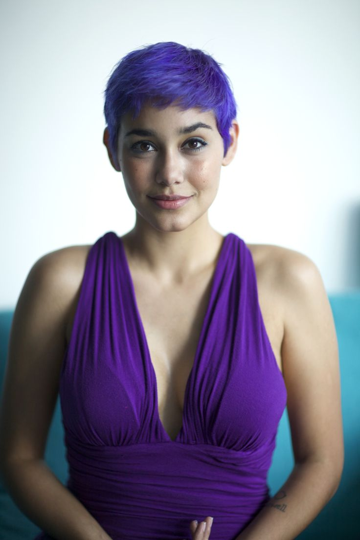 Hair Braids Undercut Purple Pixie Girl Haircuts Super Short Hair Short Blue