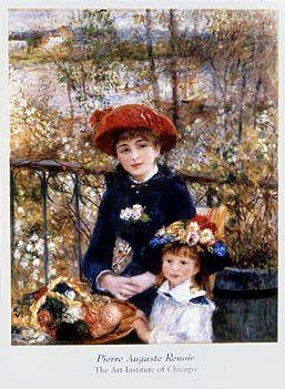 Two Sisters...Renoir...timeless: Artists, Two Sisters, Oil On Canvas, Pierre August Renoir, Pierreaugust Renoir, Paintings, Terraces, Art Institut