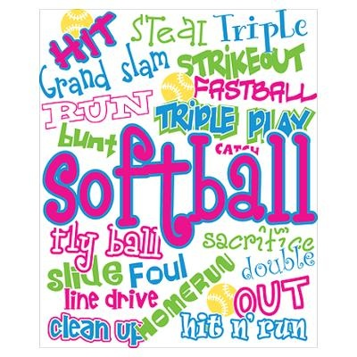 Softball Poster i love and want into my room