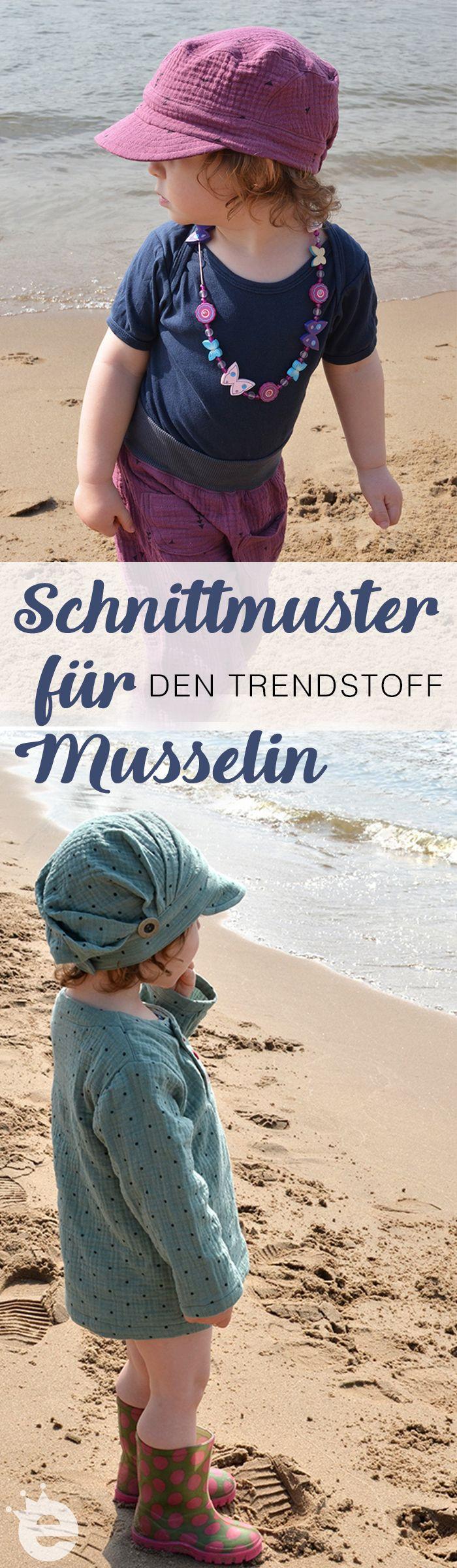Erprobte Kinder-Schnittmuster für Musselin und Double Gauze. Für Jungs und Mädchen zum selber nähen. Von erbsenprinzessin.com