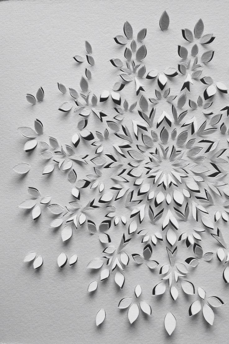 Fine Paper Art \ Paper Cut Caleidoscope \ idea of happiness by Anna Maria Bellmann