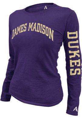 Product: James Madison University Dukes Women's Slim Fit Long Sleeve T-Shirt
