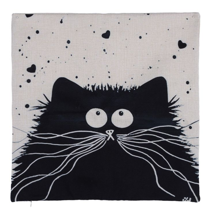 Cartoon images Linen Cotton Blend Cushion Cover Home Office Sofa Square Cat Pillow Case Decorative Cushion Covers Pillowcases Oh Yeah Get it here