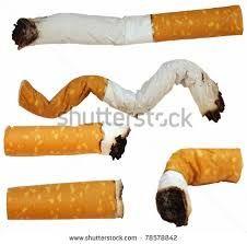 half smoked butts