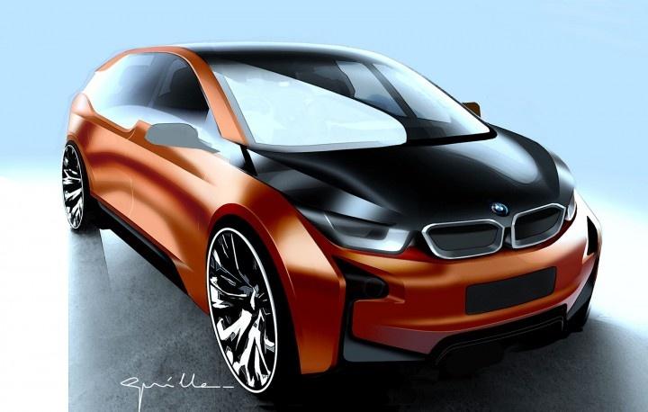 BMW i3 Concept Coupe Design Sketch