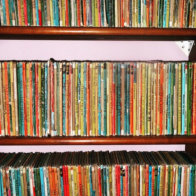 CJ Harper's #shelfie - vintage Ladybird books. #books #bookshelf #bookshelves #ladybirdbooks #cjharper #authorallsorts #allsortsshelves