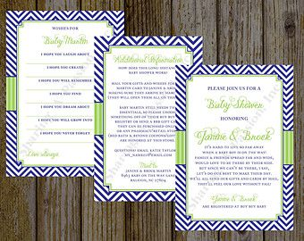 Long Distance Baby Shower Invitation   Shower By Mail Invite   Boy Baby  Shower Invitation