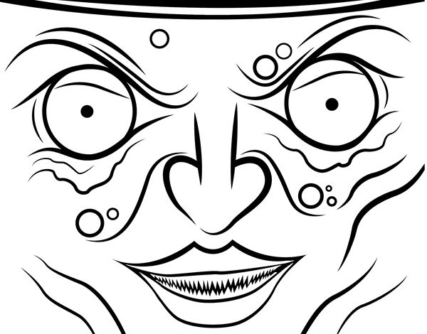 98 best images about dibujos de halloween para colorear on - Caras de brujas ...