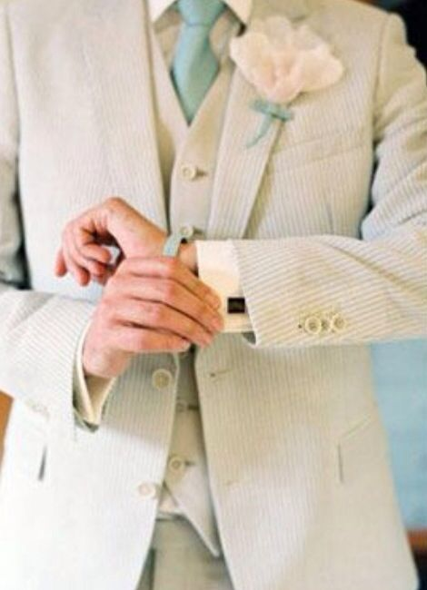 Mint men's wedding suit