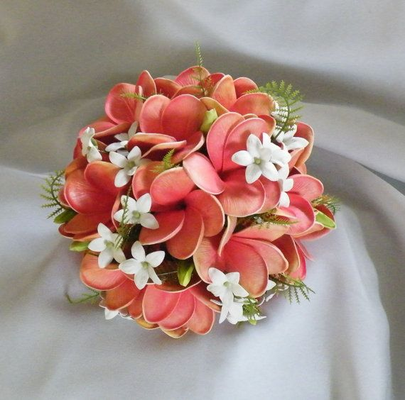 Frangipani Plumeria Bouquet Posy Real Touch by Abloomortwo on Etsy