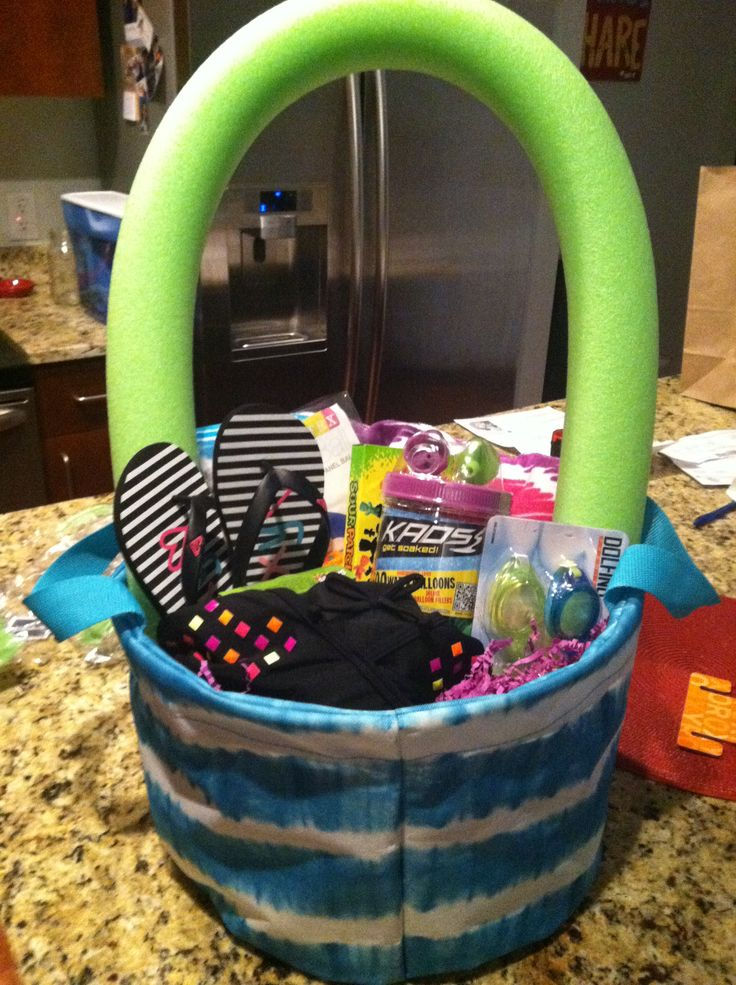 16 best fun in the sun images on pinterest basket ideas beach childs summer gift basket tie die basket from target pool noodle roxy sandals bikini water balloons negle Gallery