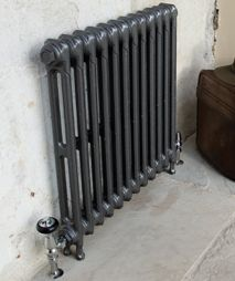 Cast iron 2 column Victorian radiators in foundry grey