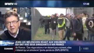 Licenciement Air France - Mélenchon CENSURÉ - BFMTV - YouTube