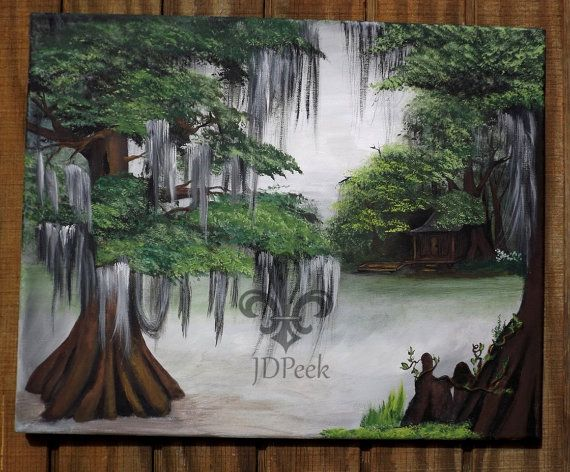 Cajun Camp on a Bayou acrylic painting 16x20 original by ...