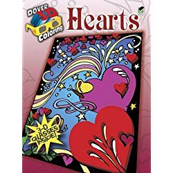 3-D Coloring Book--Hearts (Dover 3-D Coloring Book)