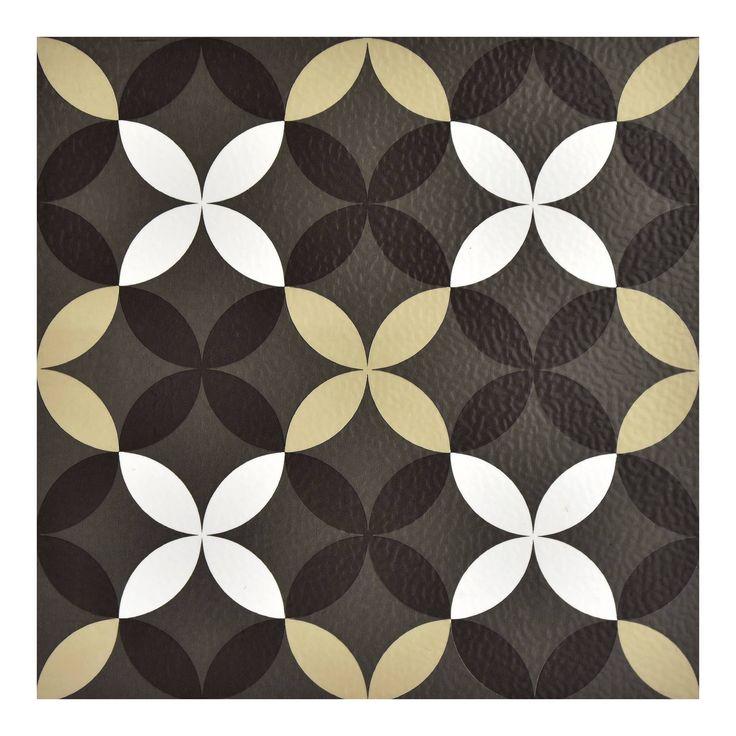 Brewster Clover Peel & Stick Floor Tiles Clear Vinyl