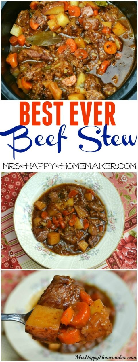 BEST EVER Beef Stew (adding gravy packet /italian seasoning plus sauteeing onion n garlic w butter before hand)