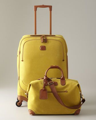 """Life"" Taxi-Yellow Luggage by Bric's at Neiman Marcus. - love this one, too"