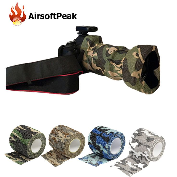 Army Elastic Stealth Tape Military Waterproof Camouflage Camo Wrap Tapes Paintball Gun Shooting Stretch Bandage Hunting Tools