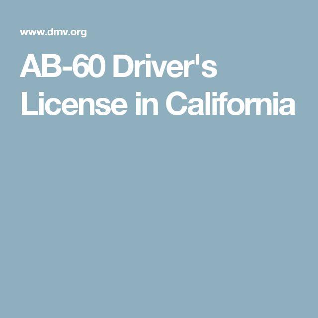 AB-60 Driver's License in California