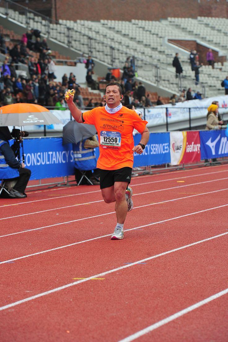 Arrivée du marathon d'amsterdam 2015