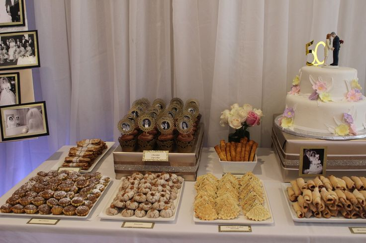Parents 50th Anniversary Dessert Table
