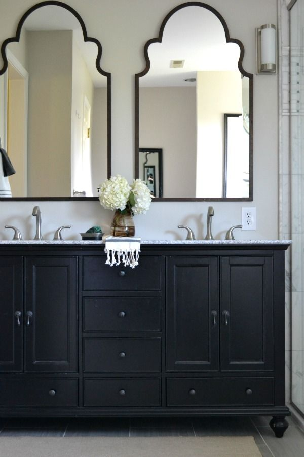 Painting Bathroom Cabinets Gray best 20+ black cabinets bathroom ideas on pinterest | black