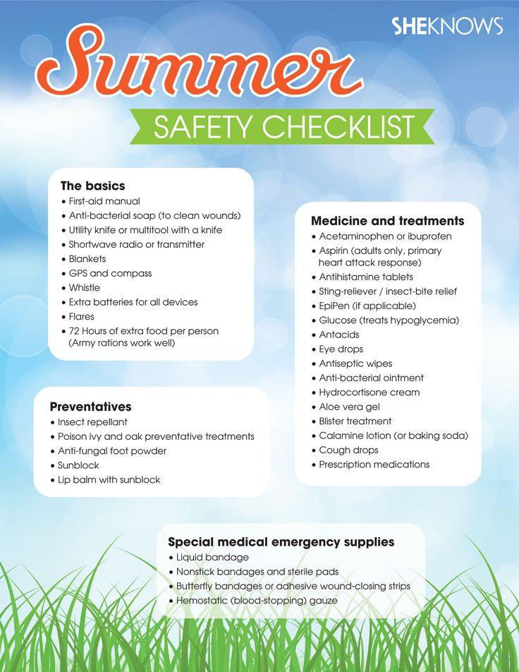 Field guide to summer safety Summer Fun & Safety Pinterest