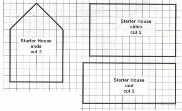 One Room House - Easy Gingerbread House Blueprint