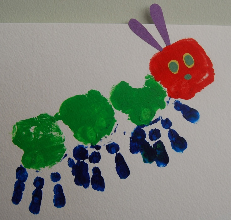 Hungry Caterpillar Finger Painting