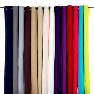 Lot de 2 rideaux à œillets en coton (plusieurs coloris disponibles) - Alméra - Les rideaux - Textiles et tapis - Salon et salle à manger - Décoration d'intérieur - Alinéa