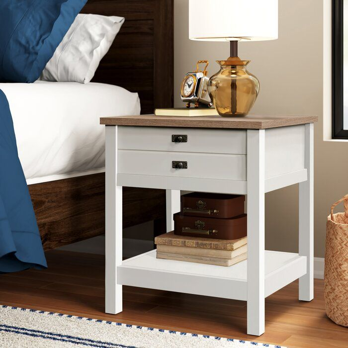 Paignt 1 Drawer Nightstand In 2020 With Images Drawer