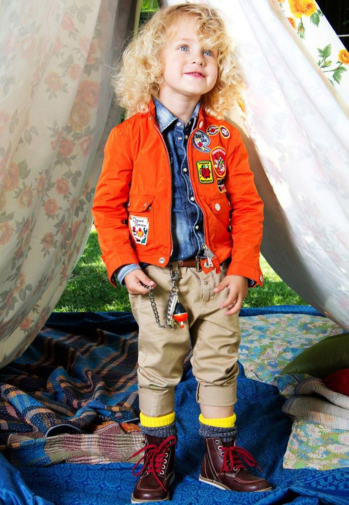 The event held in June 2013 at the Giardino Corsini for the presentation of the @DSQUARED2 kids collection, focusing on those highlighting the orange biker jacket in the boy's scouts look. #orange #dsquared #dsquared2 #SS14 #spring #summer #springsummer2014 #childrens #kids #childrenswear #kidswear #kidsfashion #girls #boys