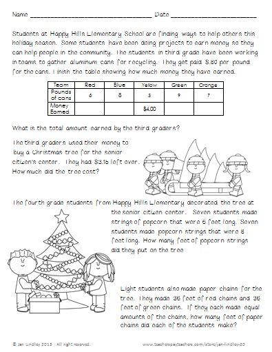 Problem Solving Worksheets For 3rd Grade : Problem solving activities for third graders rd grade